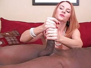 Mature amateur wife interracial cuckold handjobs