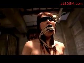 Blindfolded Asian Getting Tied Up Tits Rubbed 2 Guys In The Basement
