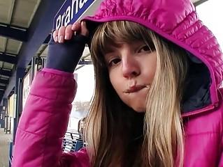 Eurobabe Gina Gerson nailed in a train