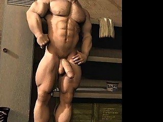 3D Muscle Boys with Huge Cocks!