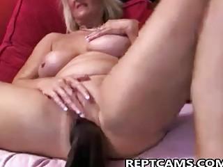 sexy milf fucking a huge dildo