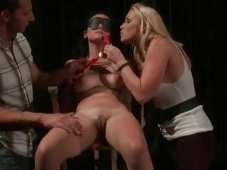 Couple punishing their slavegirl