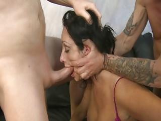 Latina pornstar very rough blowjob