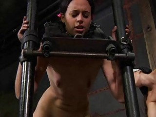 Slaves are fastened and given hardcore s&m torture