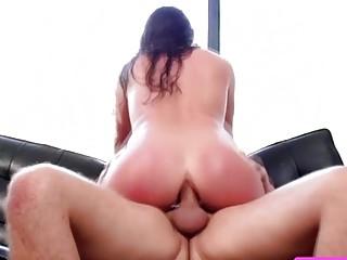 Sexy horny slut Angela gets banged by Keirans stiff cock