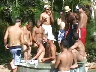 Sexy homosexuals in sexy threesome sex
