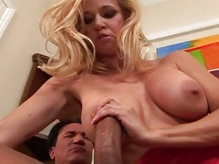Busty blonde milf in sexy red dress gets taco drilled