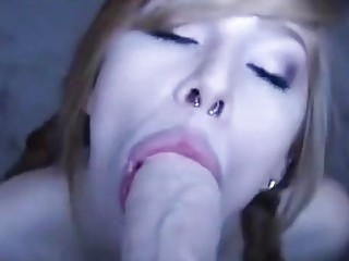 Sexy redhead girl plays with a dildo on webcam solo