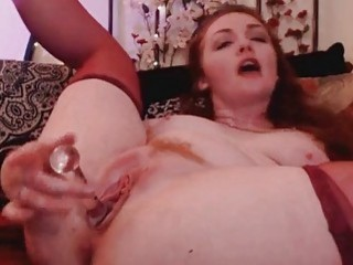 Pretty Brunnete Pound Her Pussy With Her Toys