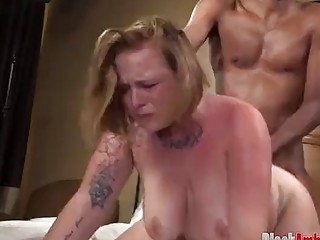Big Tits Redhead Yuliana Surprised by Big Black Cock