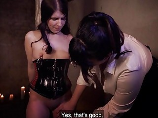 Young submissive slut likes being toyed by dominant lesbian mistress