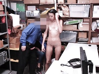 Young brunette fucked hard in an office as a punishment