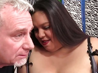 Mega Fat Tart Lorelai Givemore Sucks and Rides Pervert Grandpas Cock