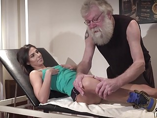 Old doctor gets his dick sucked and cum swallowed