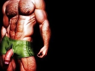 3D Horny Muscular Males