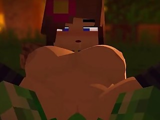 Hentai Minecroft porn is one hard and pixelated dick ride
