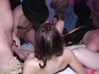 german step siblings ready for rough party orgy