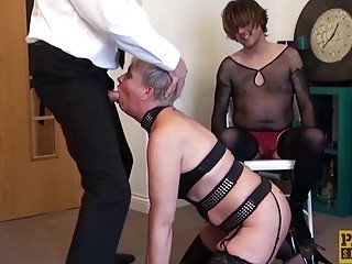 PASCALSSUBSLUTS  GILF BDSM Fucked Beside Cuckold