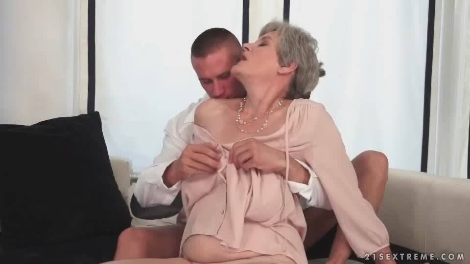 Nasty Old Granny And Perverted Young Stud Fuck Like Crazy